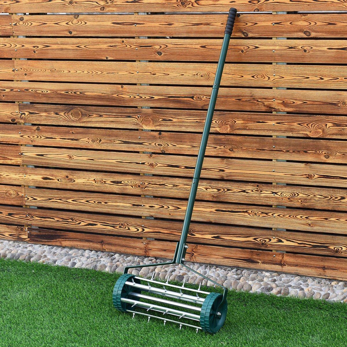 Amazon.com : COLIBROX--Heavy Duty Rolling Garden Lawn Aerator Roller ...