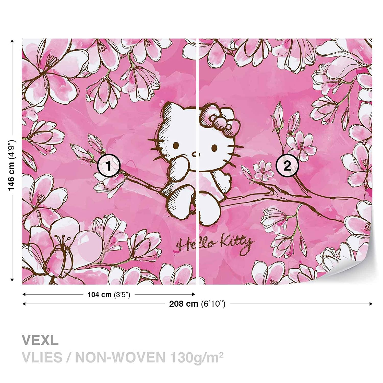 Hello Kitty Wall Mural Photo Wallpaper Room Decor 454ws Amazon Com