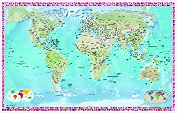 Laminated world map political atlas poster latest brand new 36x24 laminated world map political atlas poster latest brand new 36x24 inches wall chart gumiabroncs Images