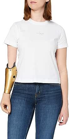 Calvin Klein Monogram Logo tee Camiseta para Mujer