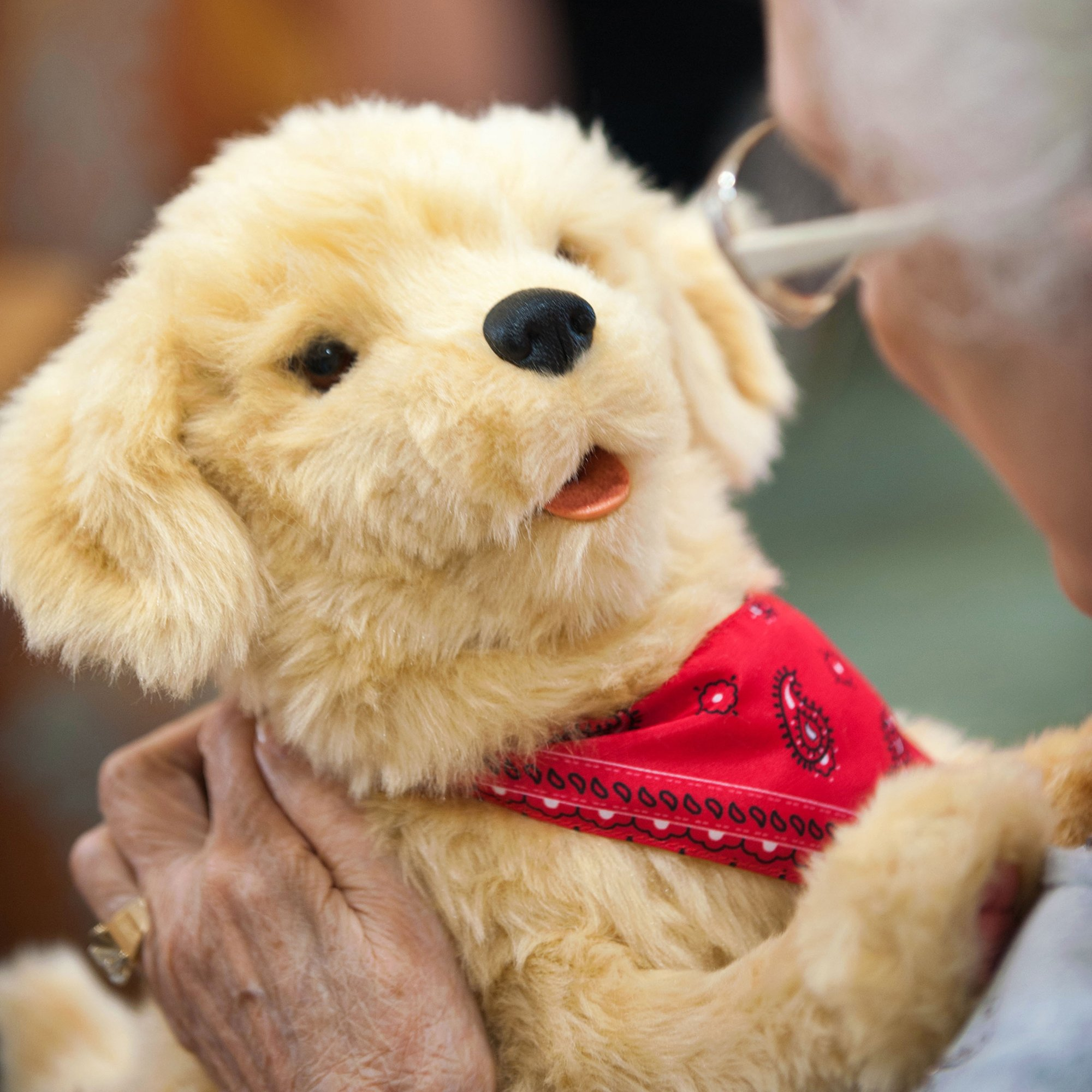 Joy for All Companion Pet Golden Pup by Joy For All (Image #3)