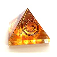 Reiki Healing Energy Charged Amber Crystal Chip Orgone Pyramid (Approx 2 x 2 x 2 cm) Including Crystal Description & Beautiful Gift Wrap