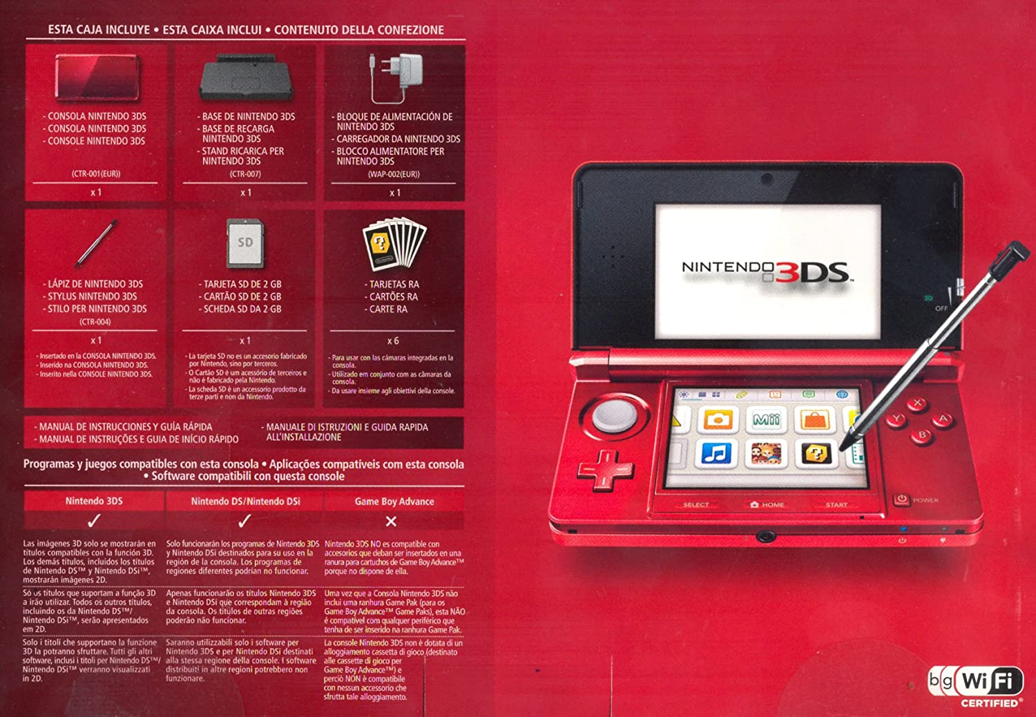 Amazon.com: NINTENDO 2200249 CONSOLE 3DS METALLIC RED: Video ...