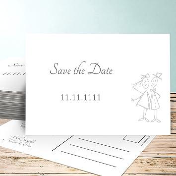 Hochzeitskarten Save The Date Karten Strichmannchen 25 Karten