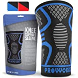 Proworks Knee Support Compression Sleeve | Sports Knee Brace for Ligament Injury, Arthritis, Joint Pain, ACL, MCL, Running, Weight Lifting & More Colours