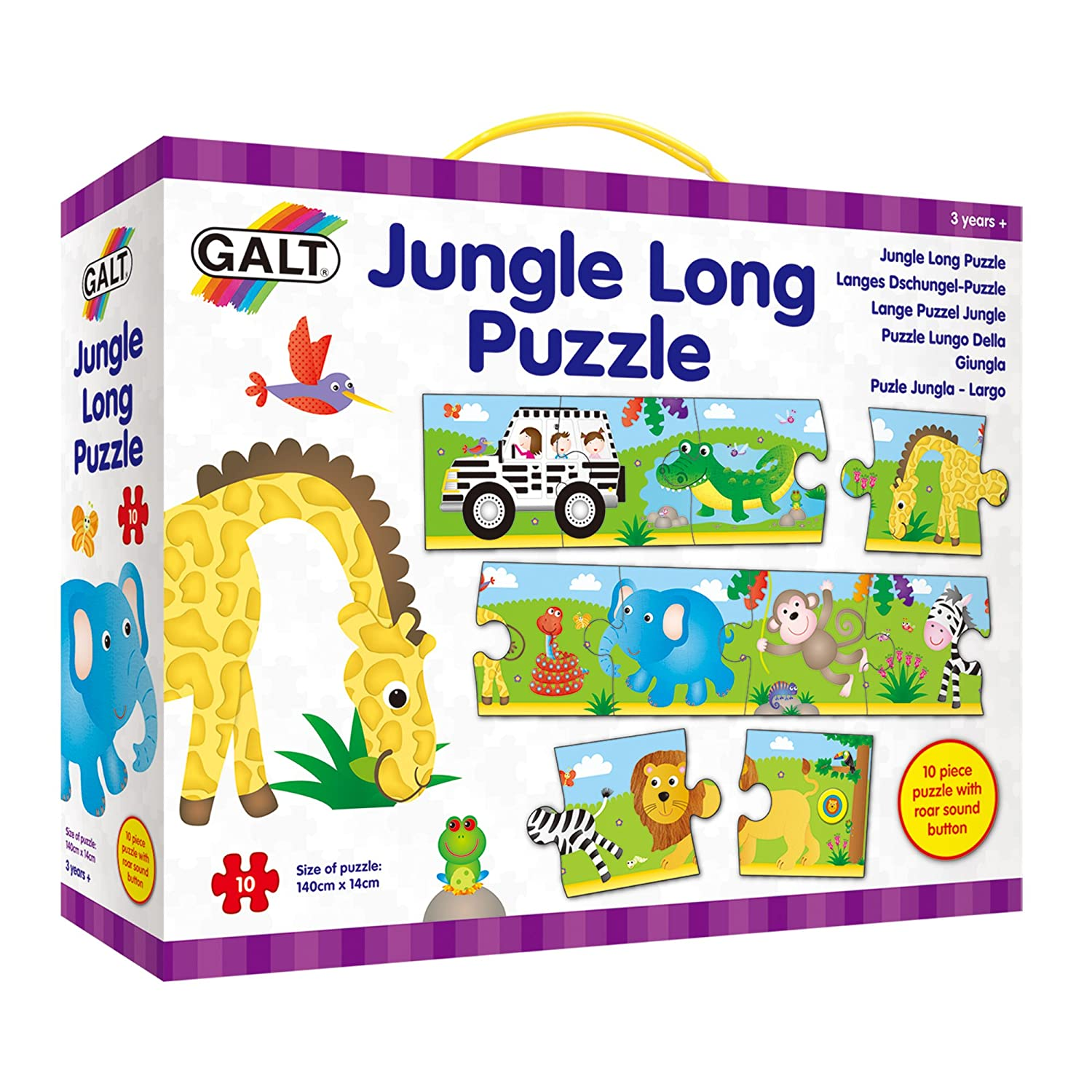 Galt Toys 4 Puzzles In A Box-Jungle