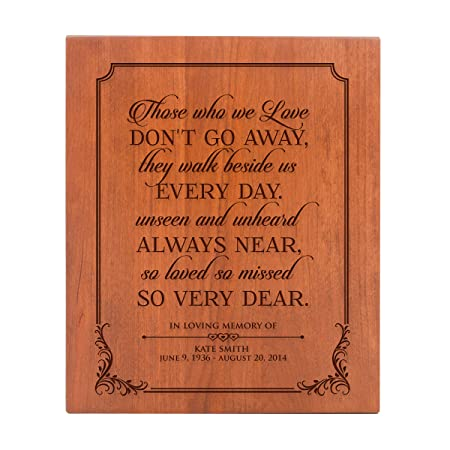 LifeSong Milestones Large Personalized Wooden Cremation Urns for Human Adult Ashes Small Memorial Keepsake Box for Cremains, Custom Engraved Funeral Urn for Adults Those We Love