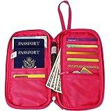 Zg Passport Holder, Passport Wallet, Passport Wristlet with Cell Phone Holder, Travel Wallet, Family Passport Wallet