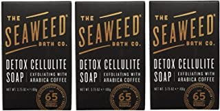 product image for Seaweed Bath Co. Detox Cellulite Bar Soap (Pack of 3) with Coconut Oil, Kukui Oil, Bladderwrack Seaweed, Cinnamon Bark Powder and Charcoal Powder, 3.75 ounces
