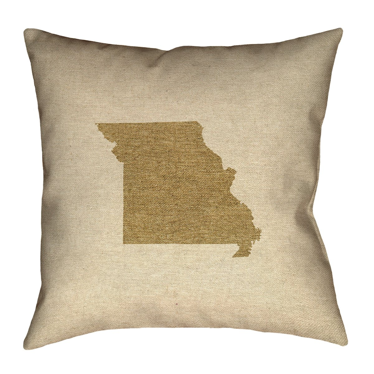 ArtVerse Katelyn Smith Missouri Canvas 14' x 14' Pillow-Faux Linen (Updated Fabric) Double Sided Print with Concealed Zipper & Insert
