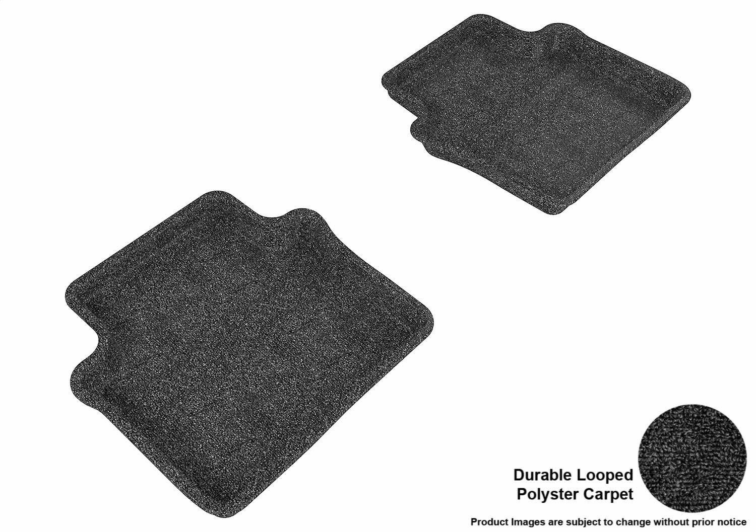L1CY00112209 Black Classic Carpet 3D MAXpider Front Row Custom Fit All-Weather Floor Mat for Select Chrysler Sebring Sedan Models