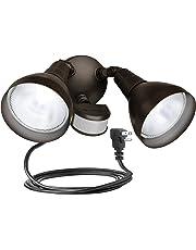 Brinks 7166BZ-1 LGT Flood 240 Motion Sensor Bronze with Cord Light