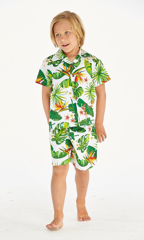 f7b9df377 Resaca de Hawai Camisa Boy Aloha Luau Cabana Set en Vendimia Tropical Toile   Amazon.com.mx  Ropa