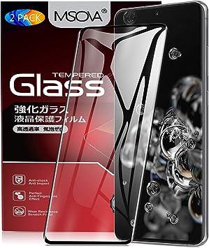 MSOVA para Samsung Galaxy S20 Ultra Protector de Pantalla, Cristal ...