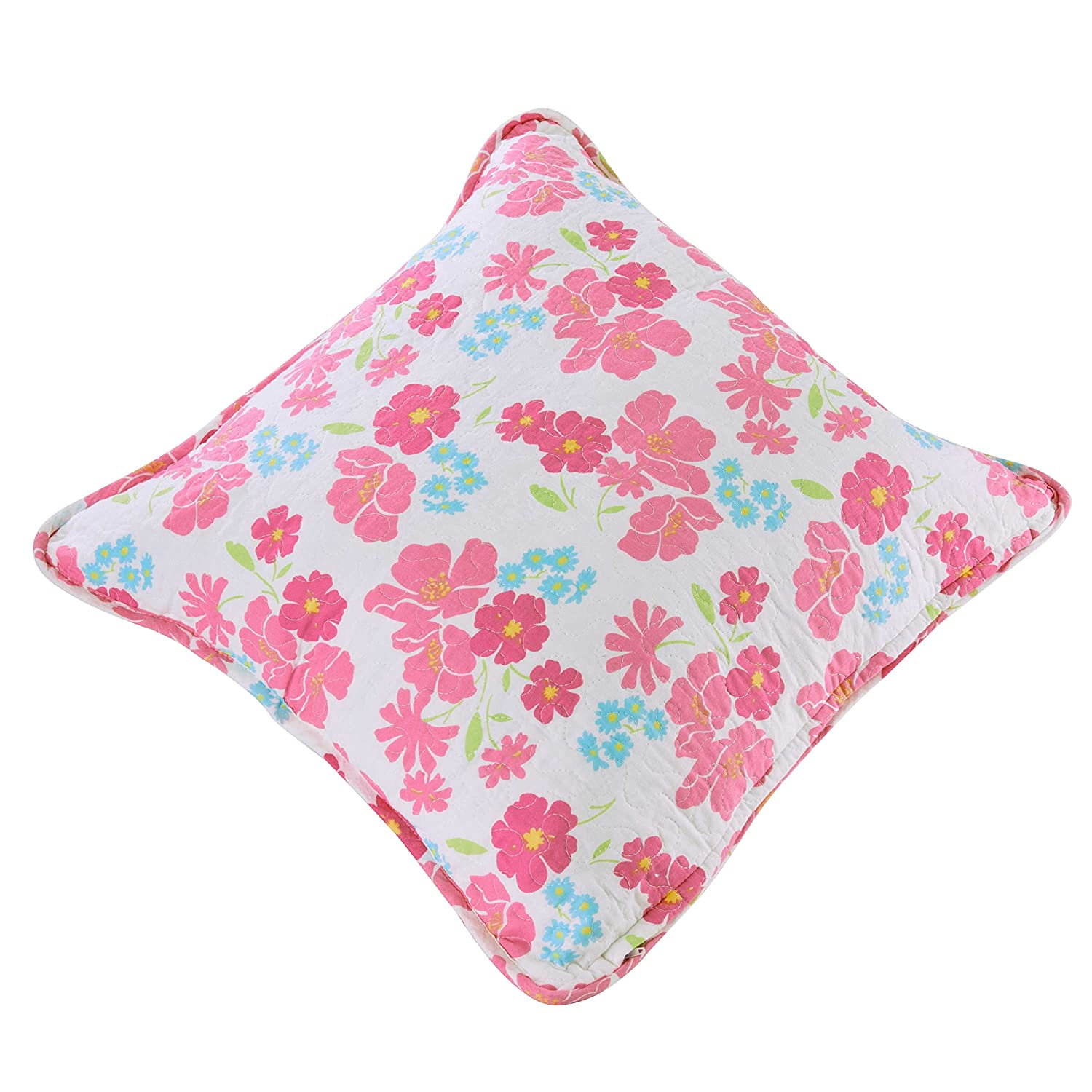 Unimall 100% Cotton Single Double Size Quilted Bedspread Birds Butterfly Colorful Patchwork Quilt Throw Blanket Two Pieces