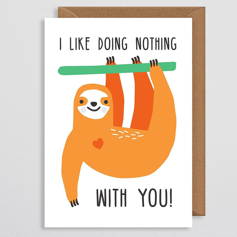 Sloth valentines card–Bradipo di per coppia–Funny valentines Day card–Bradipo di–i Like Doing Nothing with you–Sloth Gift–anima di vibrazione vibrazione–per fidanzato–amore–San Valentino–valentines Gifts For Her–per lui–fidanzato–