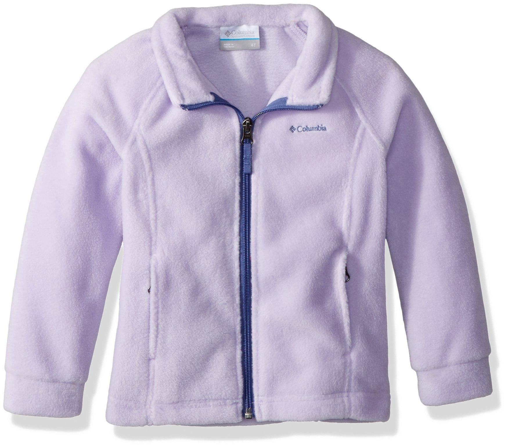 Columbia Girls' Big Benton Springs Fleece, Soft Violet/Eve, Large