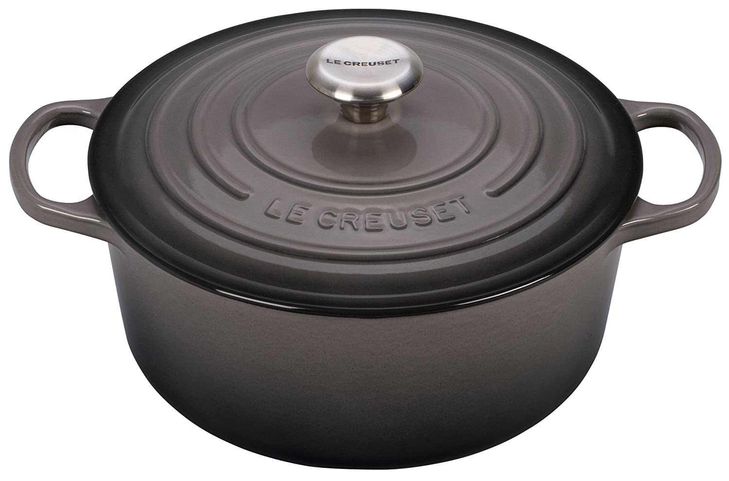 Le Creuset Signature Enameled Cast-Iron 9-Quart Round French (Dutch) Oven, Oyster