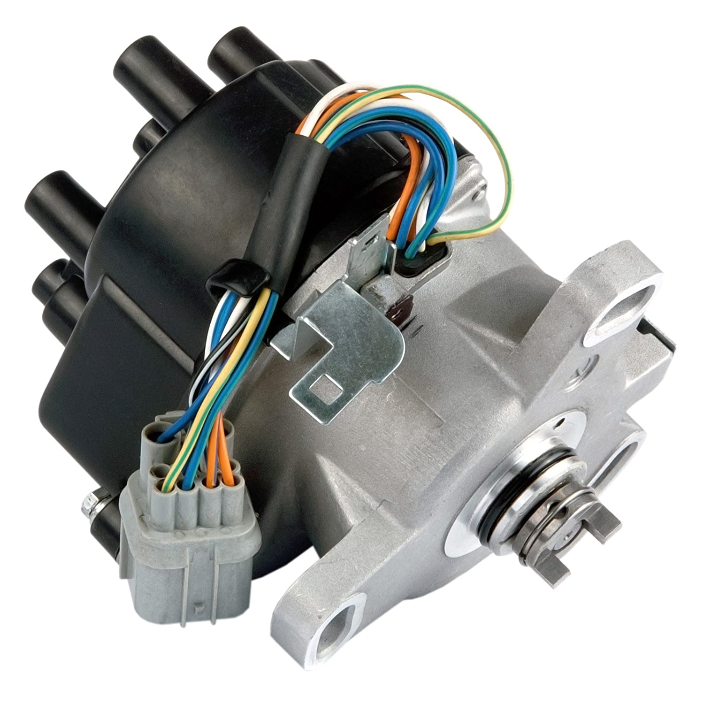 MAS Compatible Ignition Distributor w/Cap & Rotor TD-80U TD80U TD-98U for 96-98 Honda Civic 1.6L SOHC Civic del Sol TEC D16Y7 D16Y 30100-P2E-A01 30100P2EA01 King Auto Parts