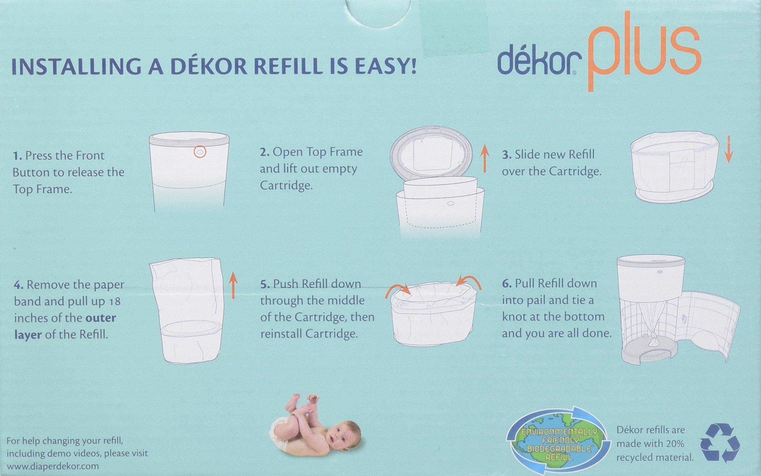 Galleon diaper dekor plus diaper pail liner refills for Dekor mini refill