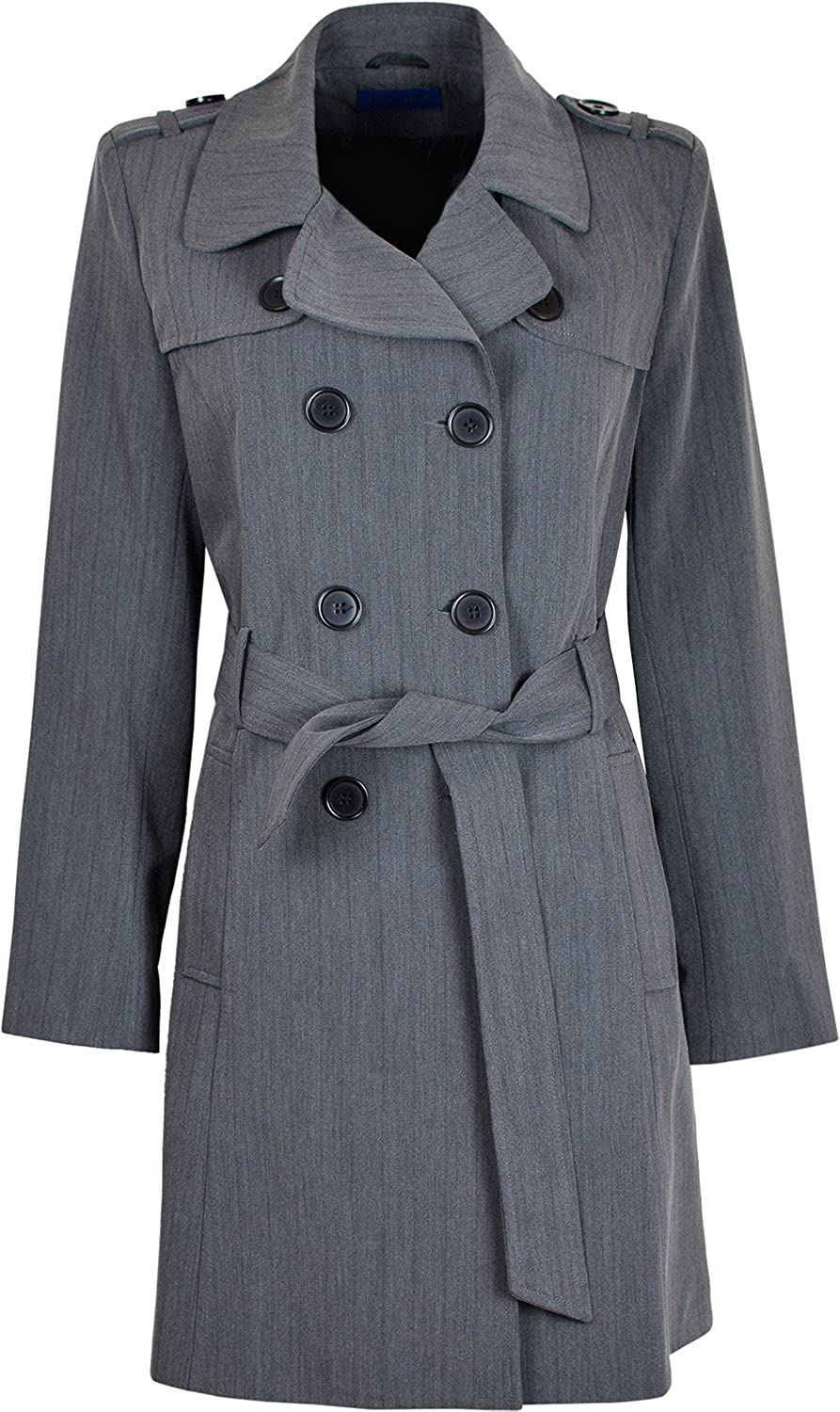 Damen Doppelreihiger Long Coat Fit und Flare Damen Winter Mantel mit Innenfutter