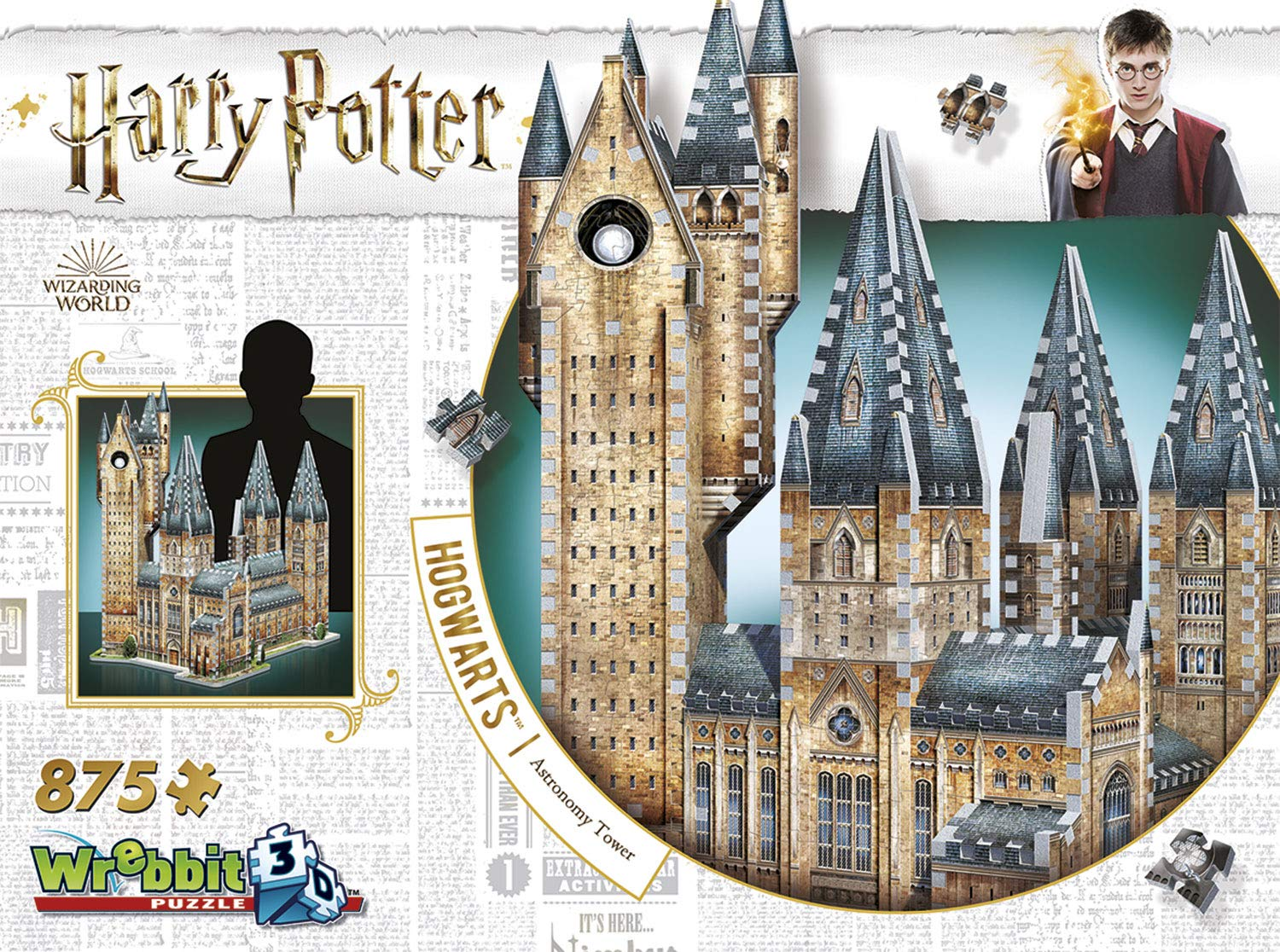 Harry Potter Astronomy Tower 3D Jigsaw Puzzle Made by Wrebbit Puzz-3D product image