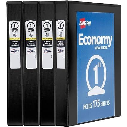 amazon com avery 1 economy view 3 ring binder round ring holds