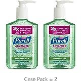 PURELL Advanced Hand Sanitizer Gel, Refreshing Aloe, 8 fl oz Hand Sanitizer Counter Top Pump Bottles (Pack of 2) - 9674-06-EC2PK