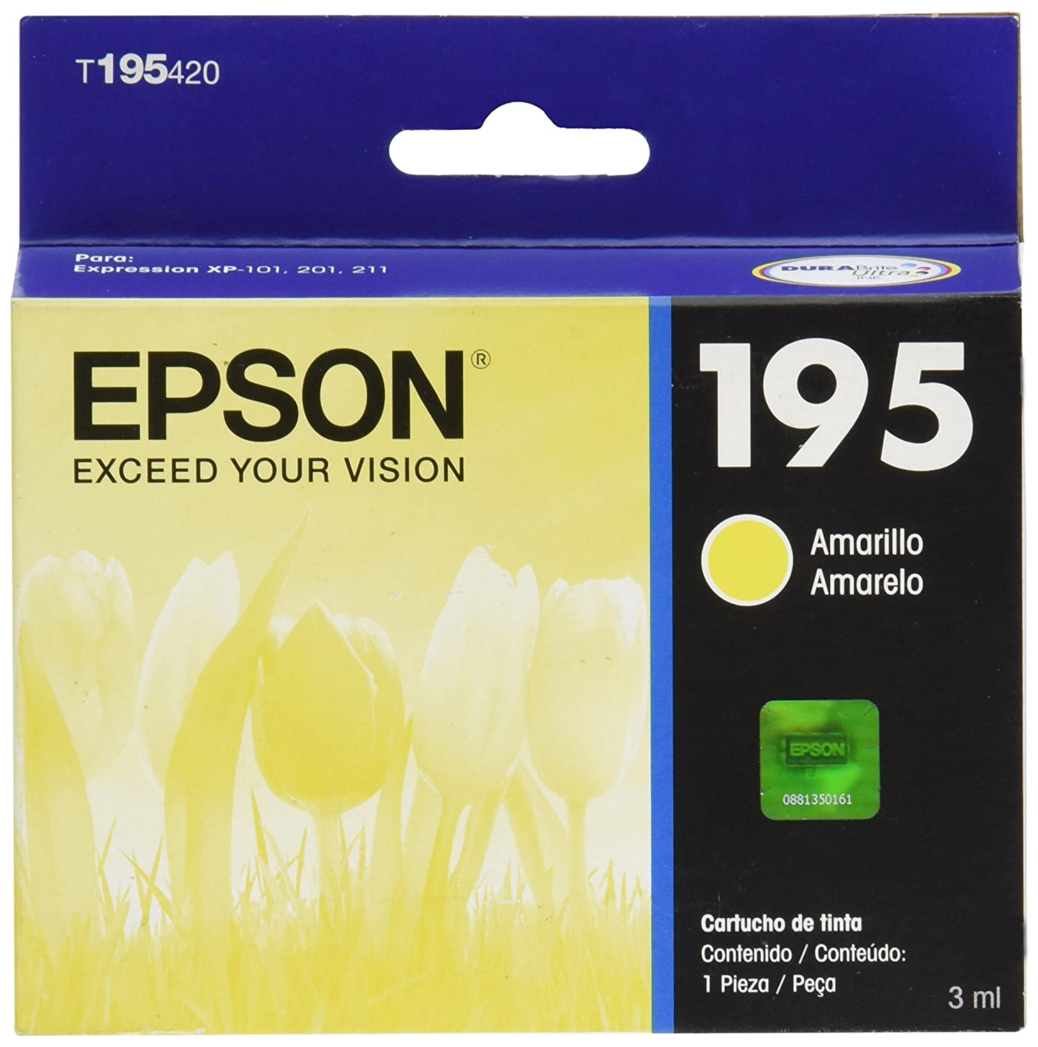 Amazon.com: Epson Cartucho t195420 Yellow Ink: Office Products