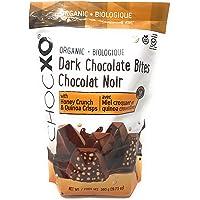 ChocXO Dark Organic Chocolate Bites with Honey Crunch & Quinoa Crisps - 560 Gram Bag