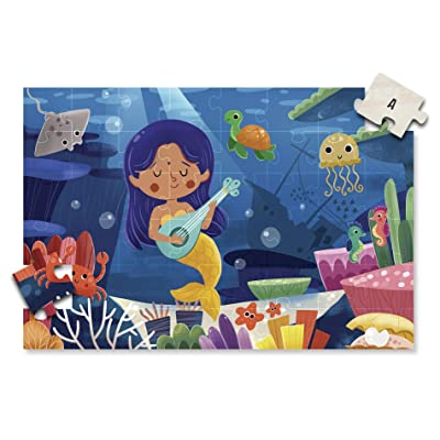 A2PLAY USA Innovative 48 Piece Floor Puzzle for Kids & Treasure Map System, Jigsaw Puzzles for Kids, Toddlers, Preschool Age 3,4,5,6, Extra Large Childrens Puzzles (2 x 3 feet Long): Toys & Games