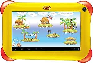 Trevi Tab Kidtab 7 4GB Yellow - Tablet (IEEE 802.11n, Android, Pizarra, Android, Amarillo, calculadora, Calendario)