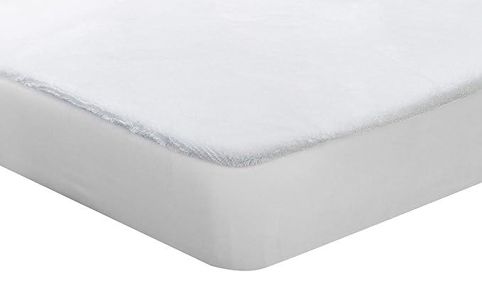 Pikolin Home - Protector de Colchón de Coralina, Tacto Terciopelo Extra Suave, Impermeable y Transpirable, 90 x 190/200 cm, cama 90 (Todas las medidas): ...