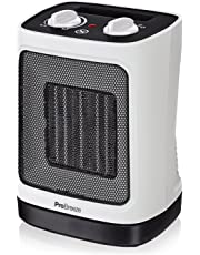 Pro Breeze® 2000W Mini Ceramic Fan Heater - Automatic Oscillation and 2 Heat Settings