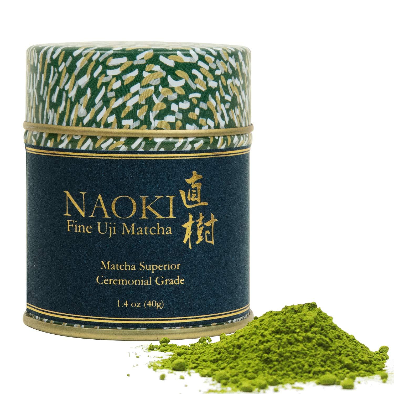 Naoki Matcha (Superior Ceremonial Blend, 40g / 1.4oz ) - Authentic Japanese Matcha Green Tea Powder Ceremonial Grade from Uji, Kyoto by Naoki Matcha