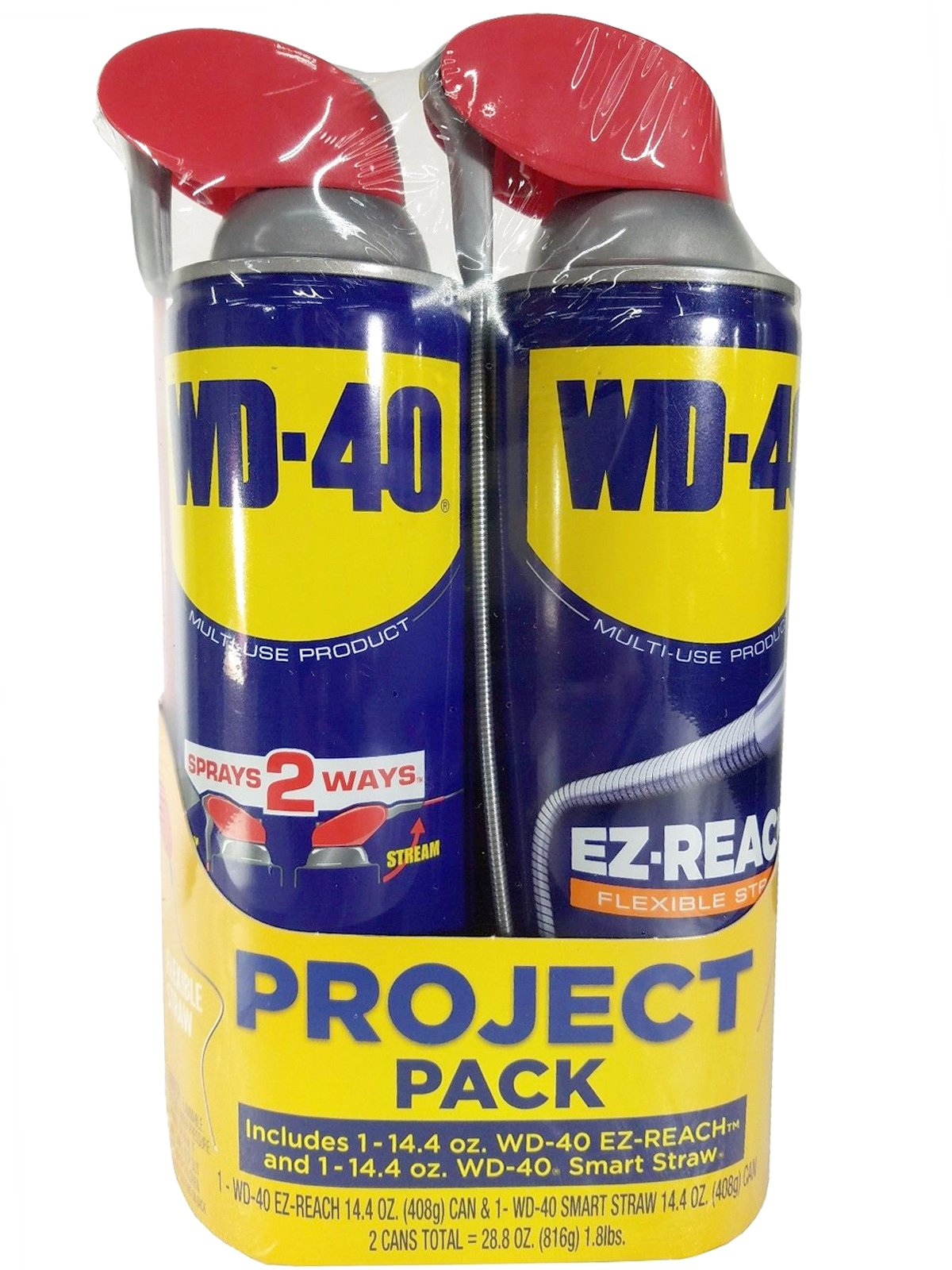 WD-40 EZ-Reach & Smart Straw 14.4oz (2-Pack) Combo Project Pack Multi-Use