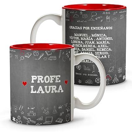 Personalizado con el nombre del Profesor o Profesora y alumnos