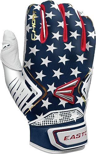 Easton Ghost Softball Batting Glove, Pair, Stars Stripes, Women's, XLarge