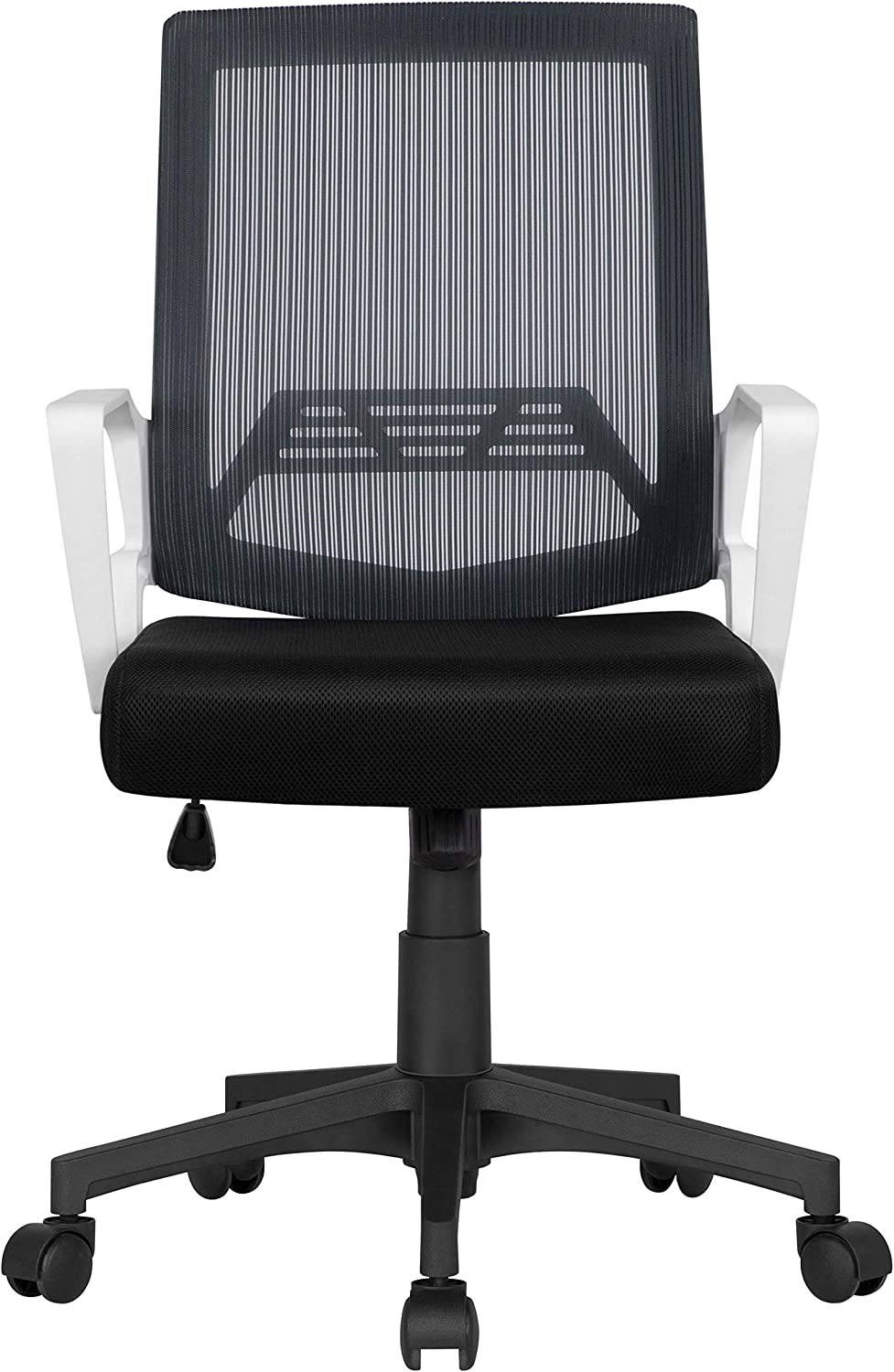 YAHEETECH Mid-Back Gray Mesh Swivel Task Computer Desk Chair with Armrest and Lumbar Support