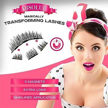 ba202d8fda0 Amazon.com : Magnetic Eyelashes [No Glue] Premium Quality False Eyelashes  Set for Natural Look - Best Fake Lashes Extensions 3D Reusable (8 PCS) New  : ...