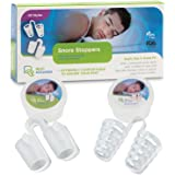Stop Snoring Naturally And Instantly! Anti Snoring 2 Styles - 4 Sizes Of Each Lifetime Warranty! Perfect Fit Snoring Remedy For Men Or Women, Works Fast, 2 Bonus Storage Cases! Snore Reliever