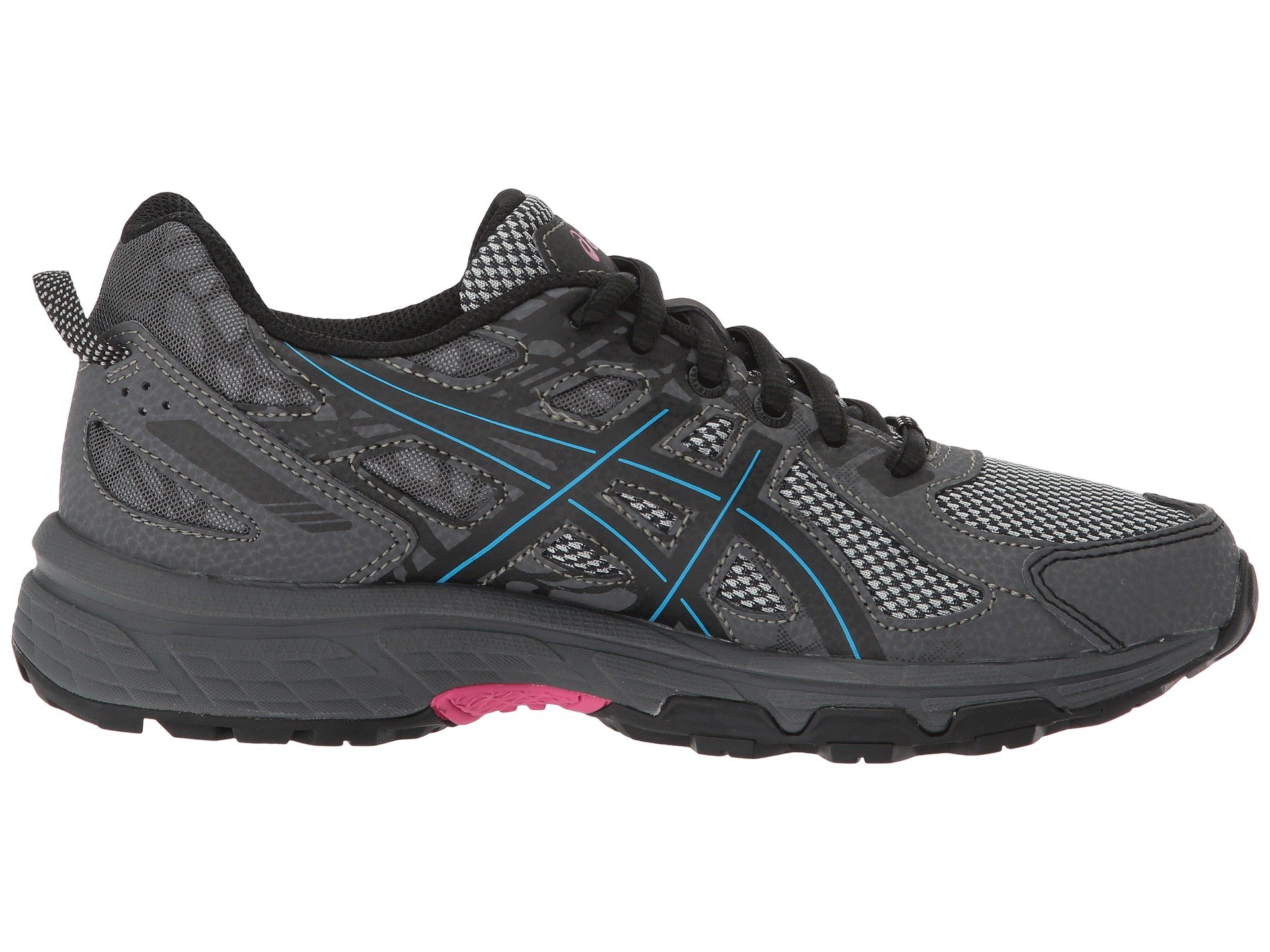 ASICS Womens Gel-Venture 6 Black/Island Blue/Pink 5 B US by ASICS (Image #8)