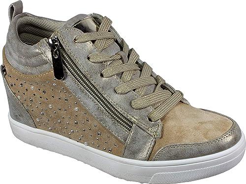 XTI 49019 - Zapatillas Mujer Cuña Alta Interior: Amazon.es: Zapatos y complementos
