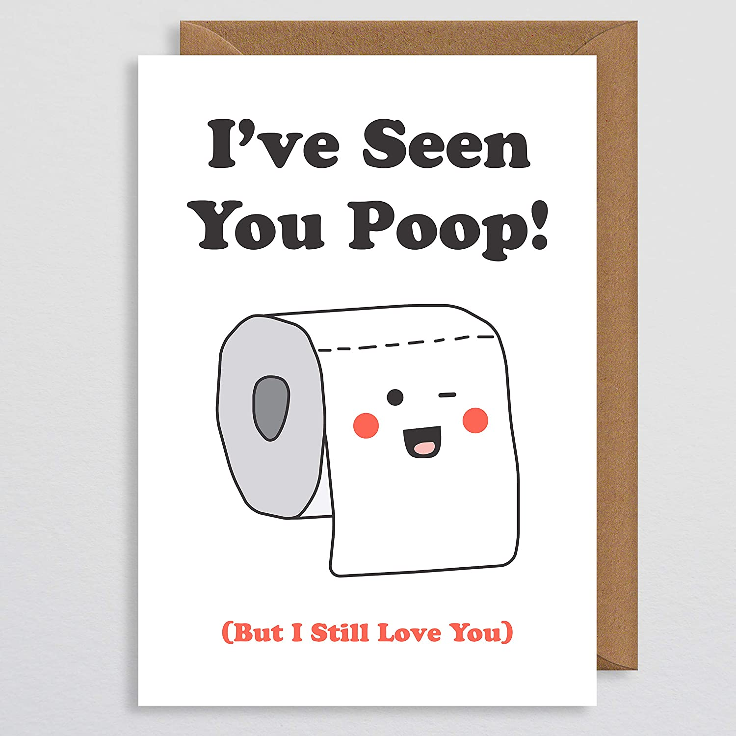Rude Anniversary Card I Love You Couple Cheeky Wife Funny Valentines Card Naughty Valentines Card LOL Girlfriend Partner for Her Valentines Card Funny Rude Bum Naked Card