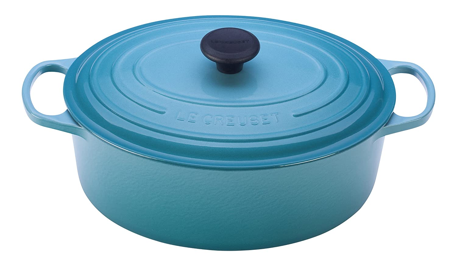 Le Creuset Signature Enameled Cast-Iron 5-Quart Oval French (Dutch) Oven, Caribbean