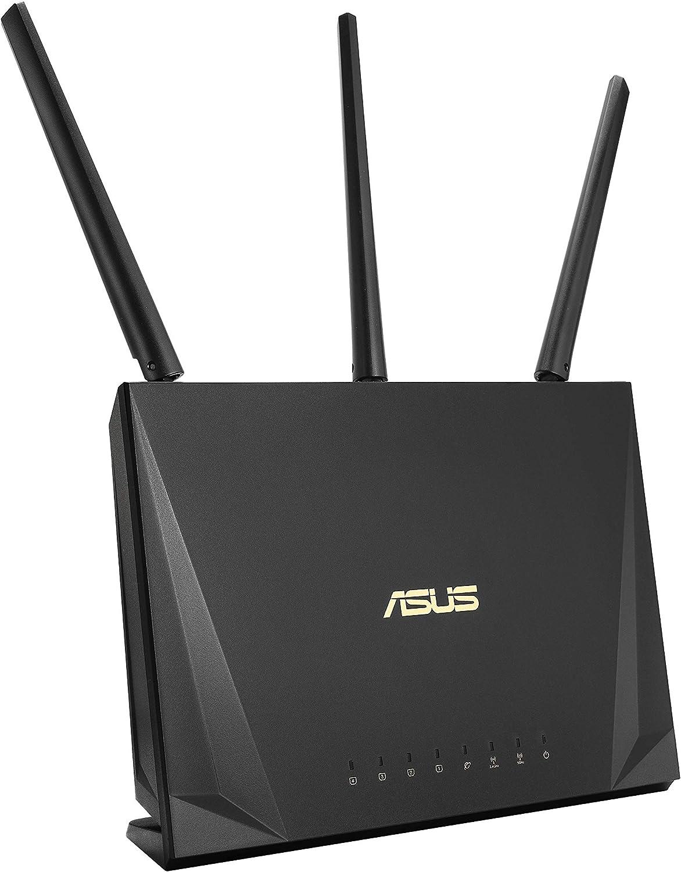 ASUS RT-AC65P - Router para Trabajar Desde casa (Doble-Banda AC1750 Gigabit Triple VLAN, MU-MIMO, USB 3.1, QoS, Modo Punto Acceso/Repetidor/Bridge)