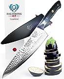 "DALSTRONG Chef's Knife - Shogun Series X Gyuto - VG10 - Hammered Finish - 8"" - w/ Chef Knife Sheath"