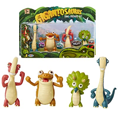 "Gigantosaurus Character Figures 4 Pack with Articulated Arms & Tails, Dinosaur Toys Stand Approx. 3-3.5"" Tall, Dino Toy Figures for Boys & Girls 3 Years Old & Up: Toys & Games"