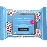 Neutrogena Makeup Remover Facial Cleansing Towelettes, Daily Face Wipes To Remove Dirt, Oil, Waterproof Mascara & Makeup Incl