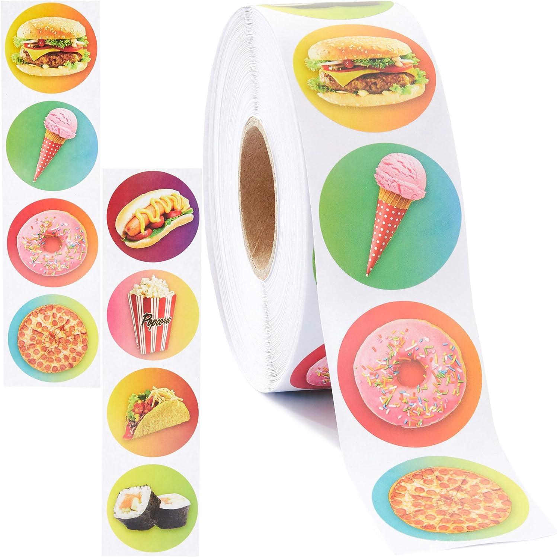 Ice Cream Stickers, Sticker Roll (1.5 In, 1000 Pieces)